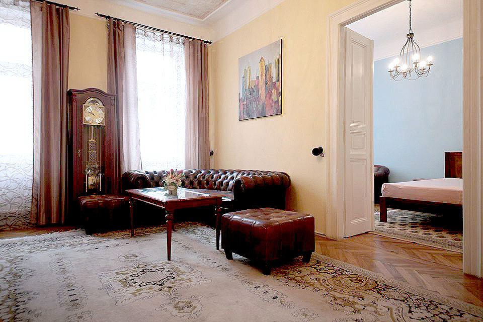 Luxury apartment 3+1, Prague 2, Vinohrady, for rent